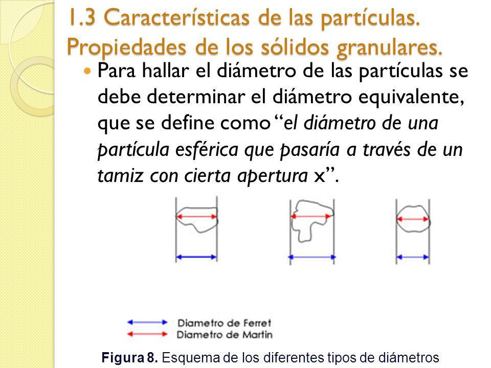 Figura 8. Esquema de los diferentes tipos de diámetros