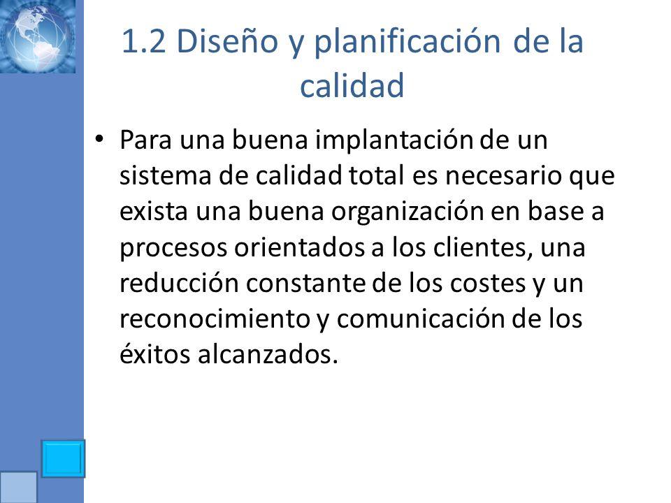 1.2 Diseño y planificación de la calidad