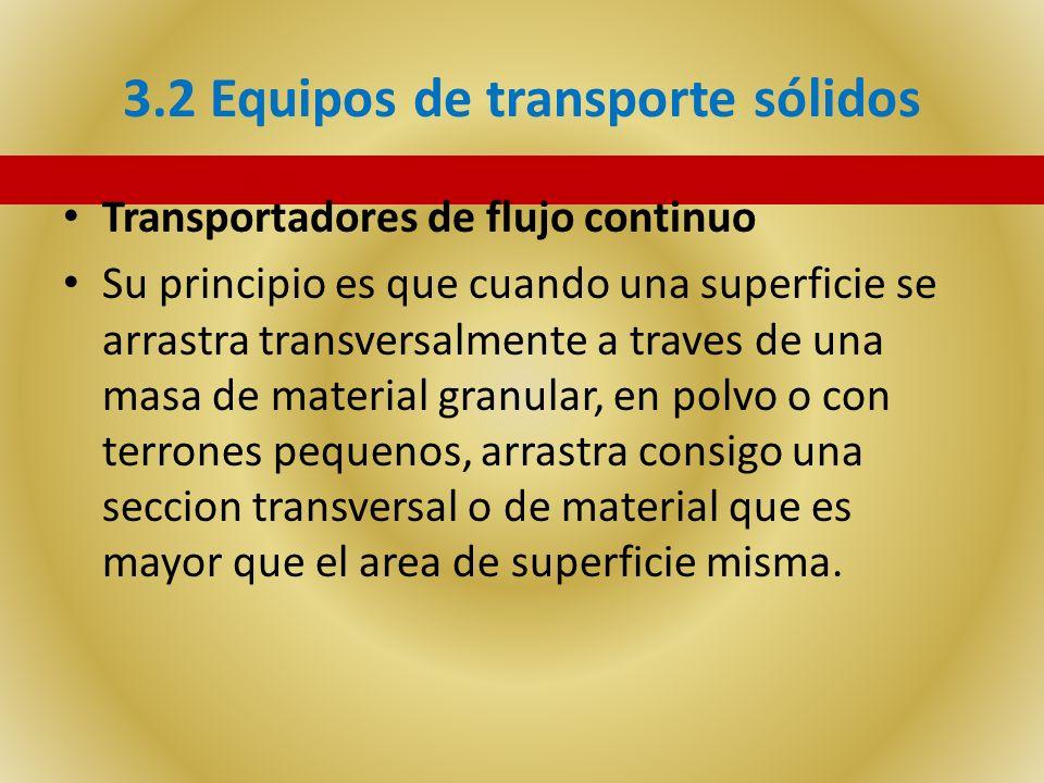 3.2 Equipos de transporte sólidos