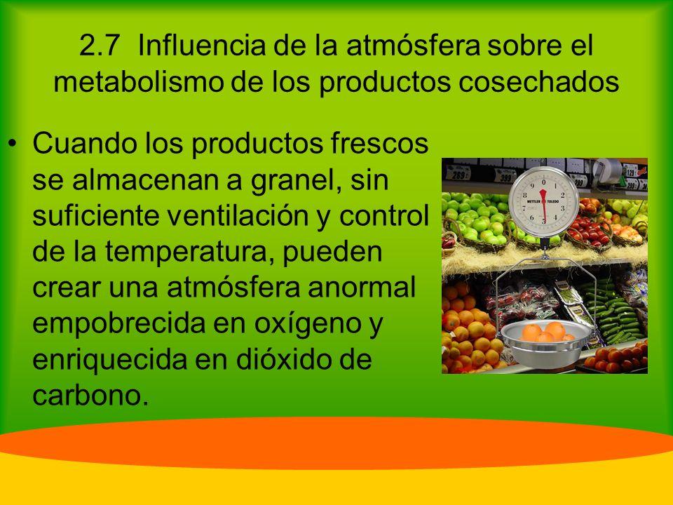 2.7 Influencia de la atmósfera sobre el metabolismo de los productos cosechados