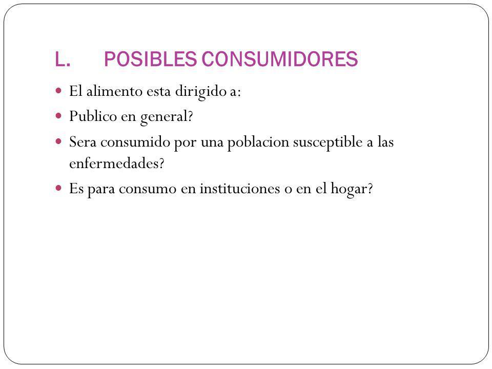 L. POSIBLES CONSUMIDORES