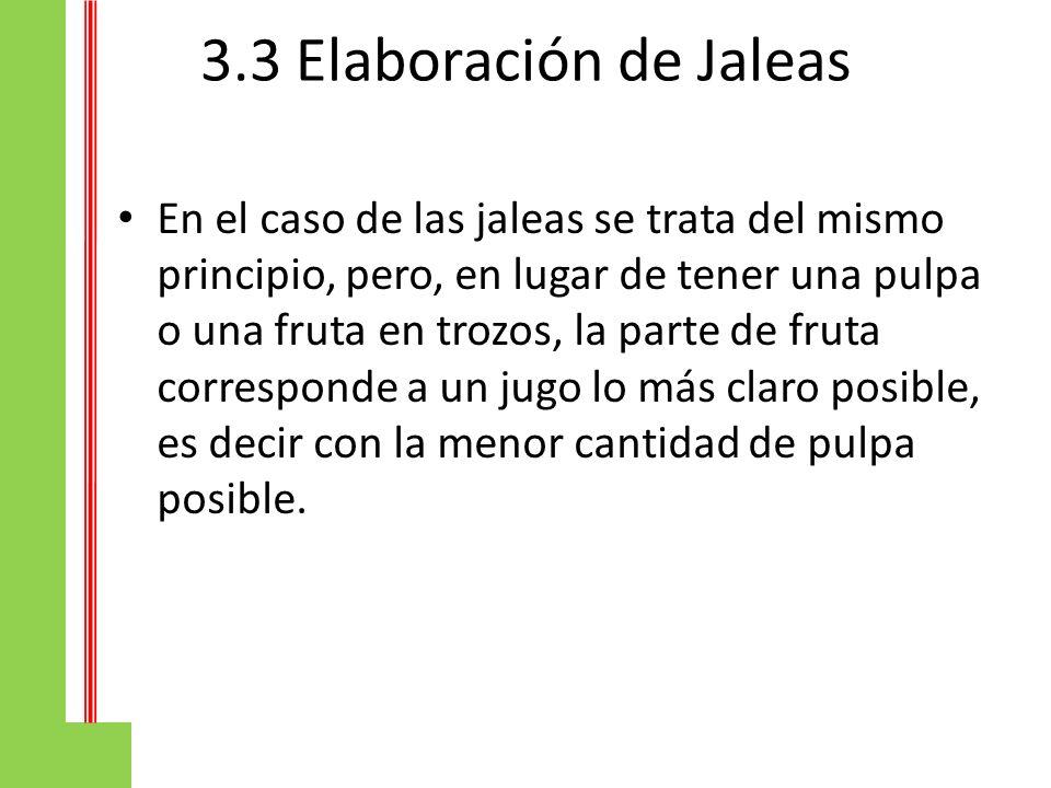 3.3 Elaboración de Jaleas