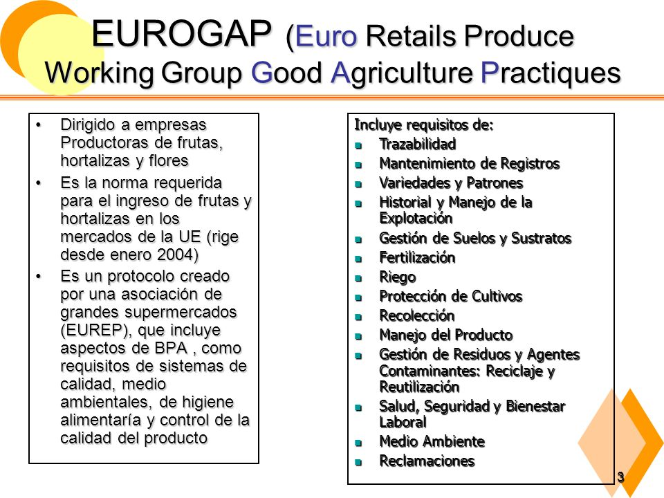 EUROGAP (Euro Retails Produce Working Group Good Agriculture Practiques