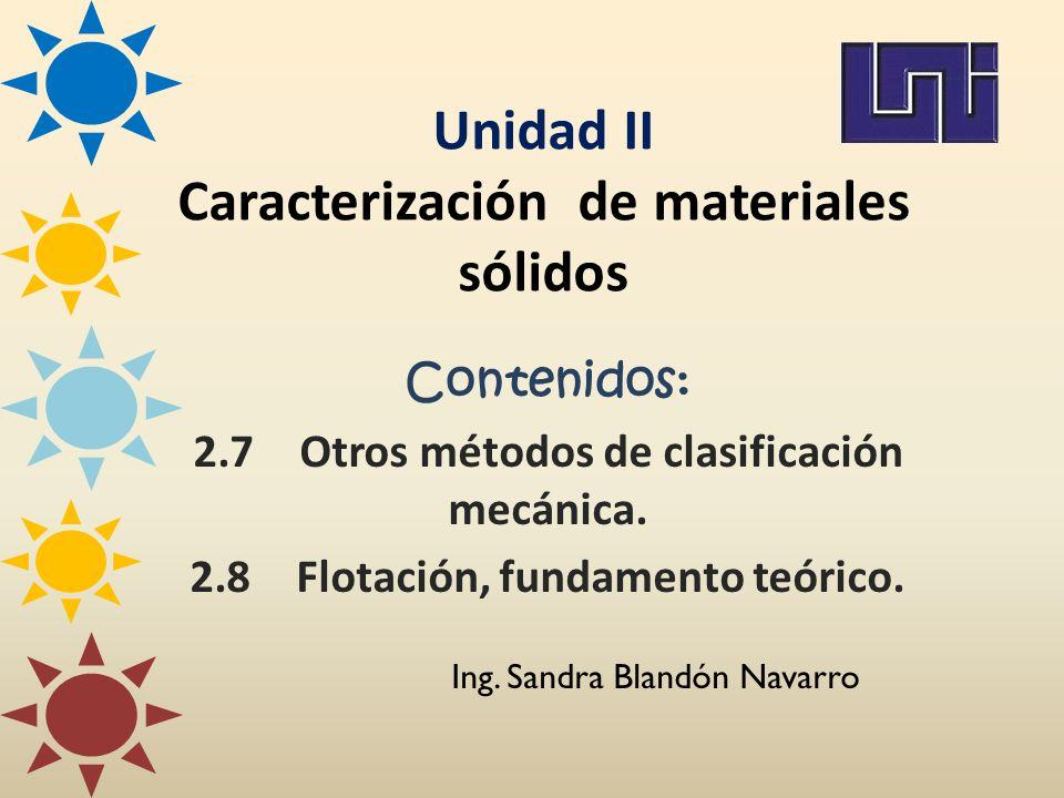 Unidad II Caracterización de materiales sólidos