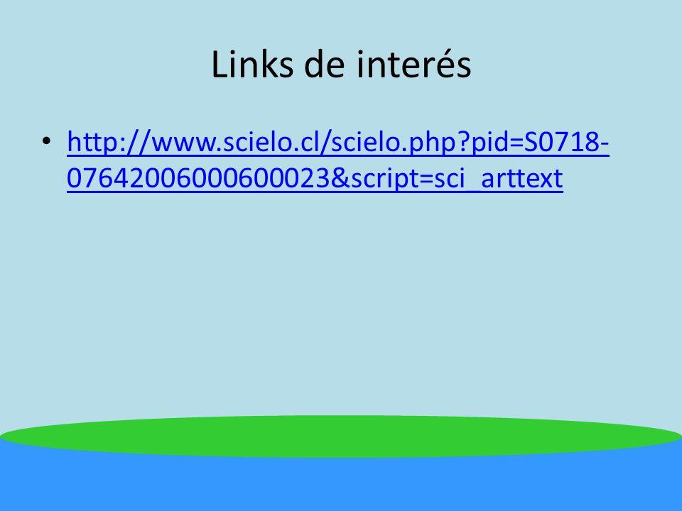 Links de interés http://www.scielo.cl/scielo.php pid=S0718-07642006000600023&script=sci_arttext