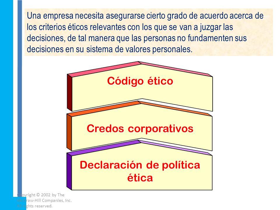 Declaración de política ética