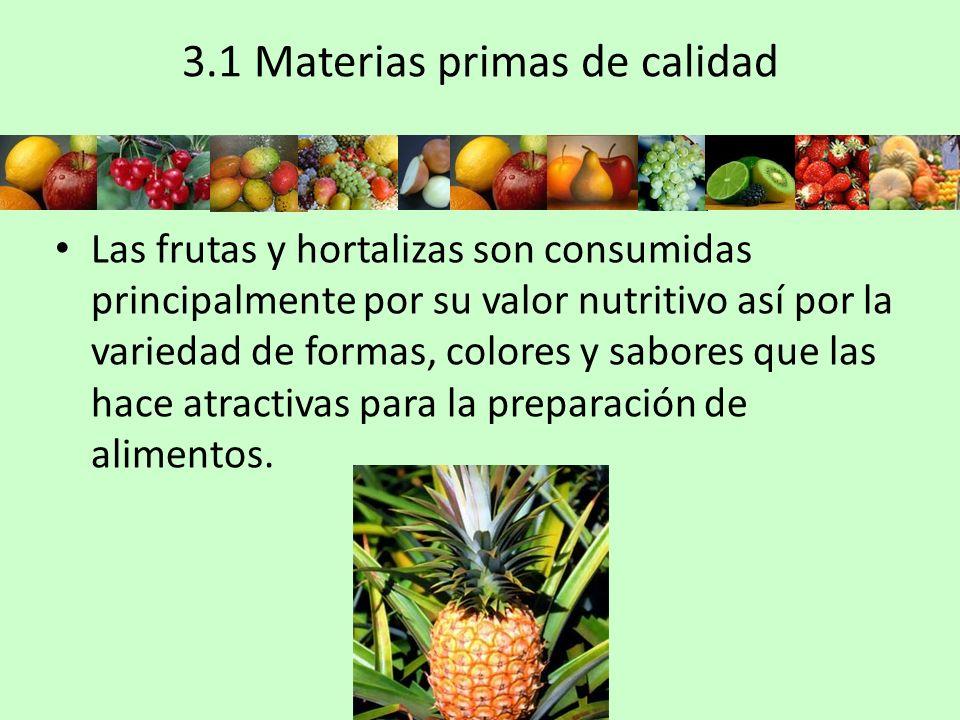 3.1 Materias primas de calidad