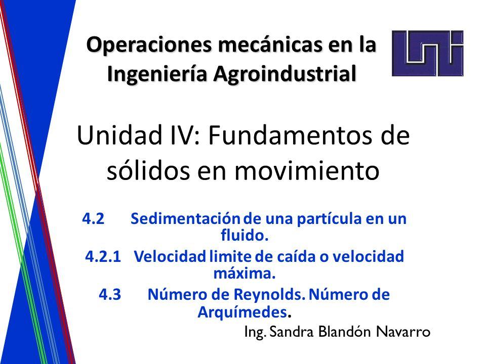 Unidad IV: Fundamentos de sólidos en movimiento
