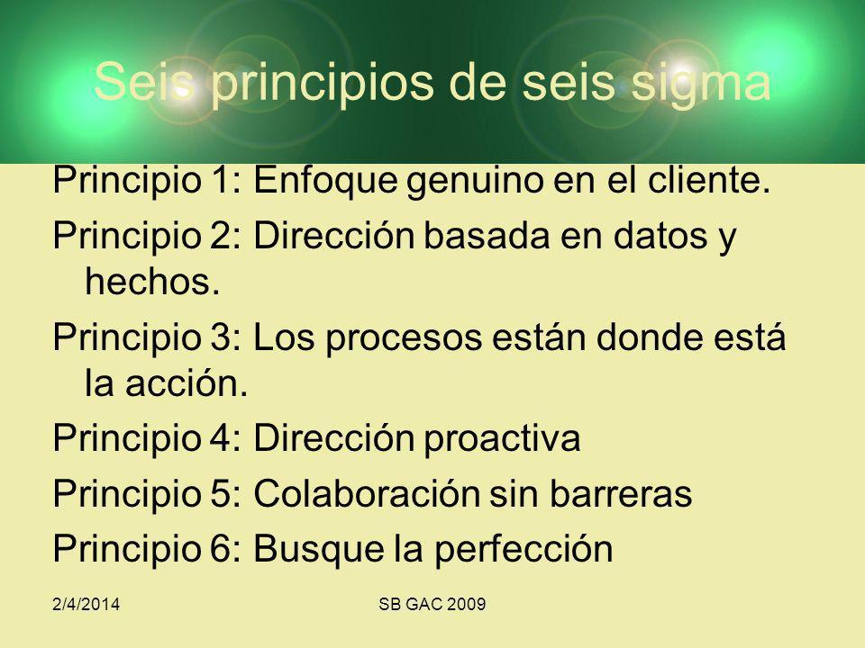 Seis principios de seis sigma