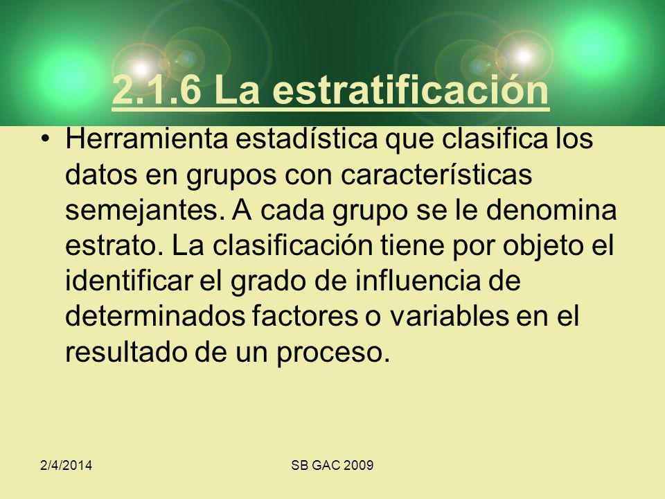 2.1.6 La estratificación