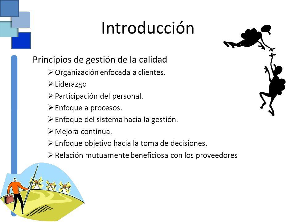 Introducción Principios de gestión de la calidad