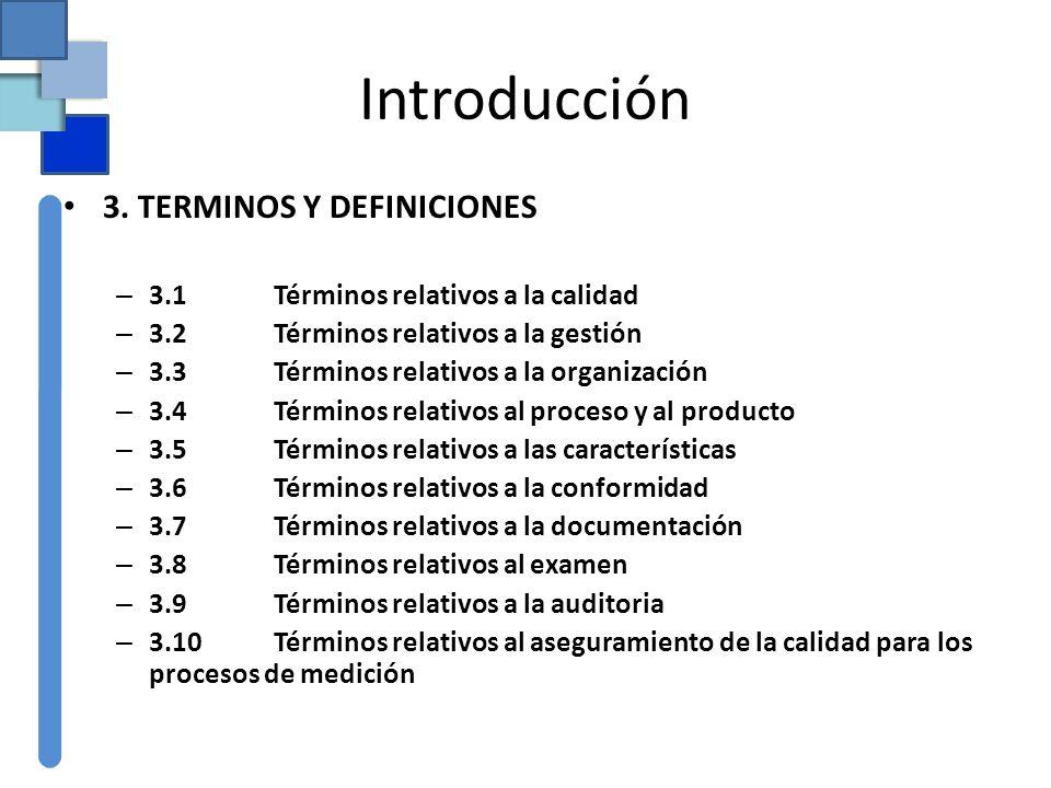 Introducción 3. TERMINOS Y DEFINICIONES