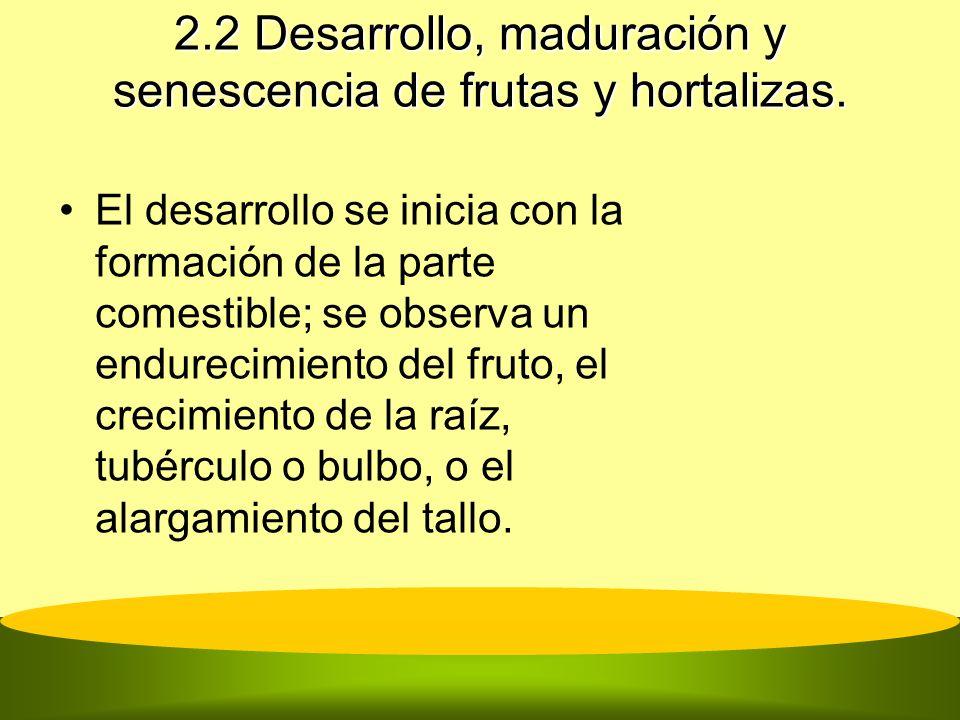2.2 Desarrollo, maduración y senescencia de frutas y hortalizas.