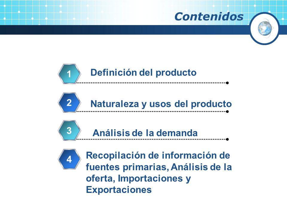 Contenidos Definición del producto 1 2 Naturaleza y usos del producto