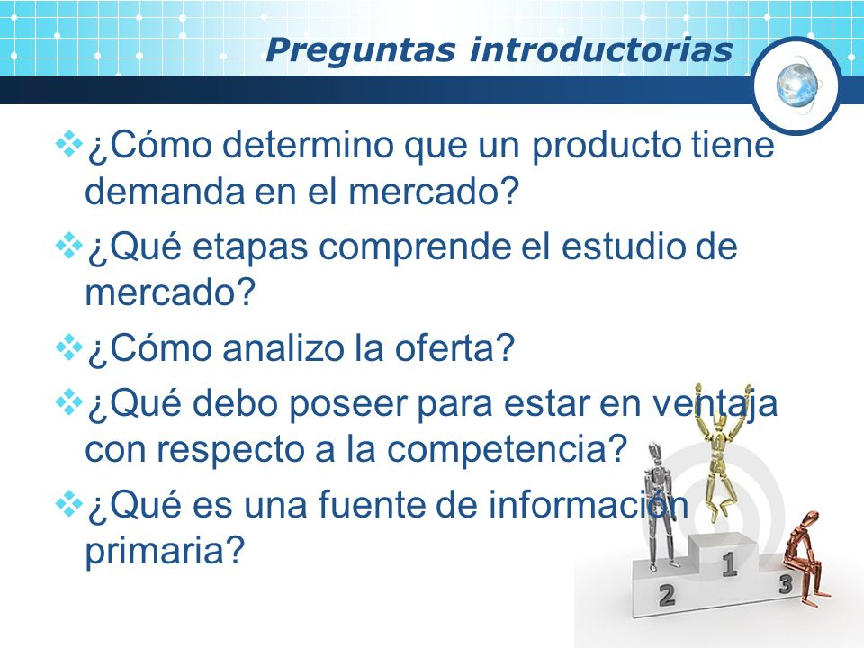 Preguntas introductorias