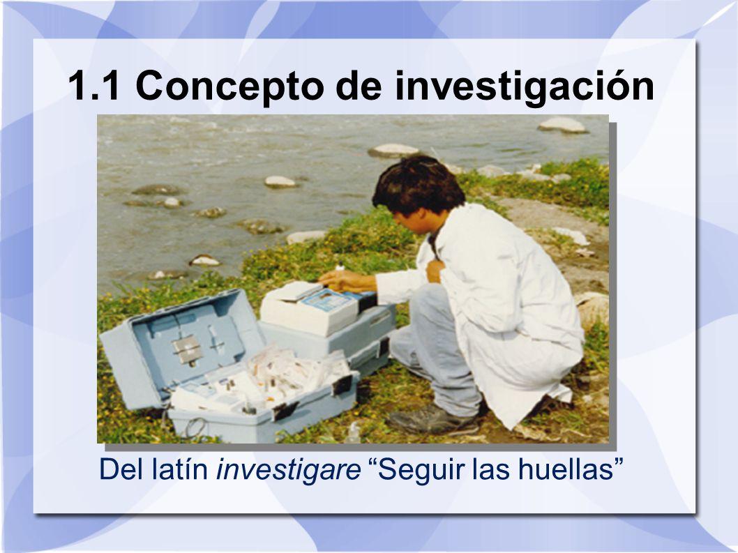 1.1 Concepto de investigación