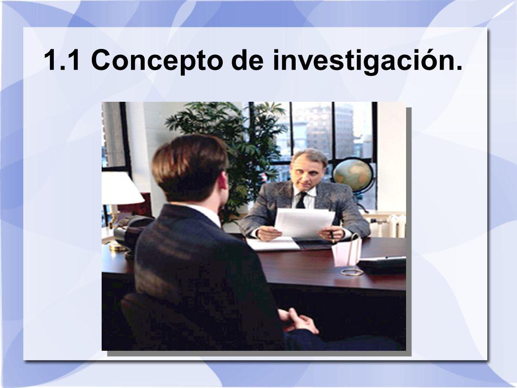 1.1 Concepto de investigación.