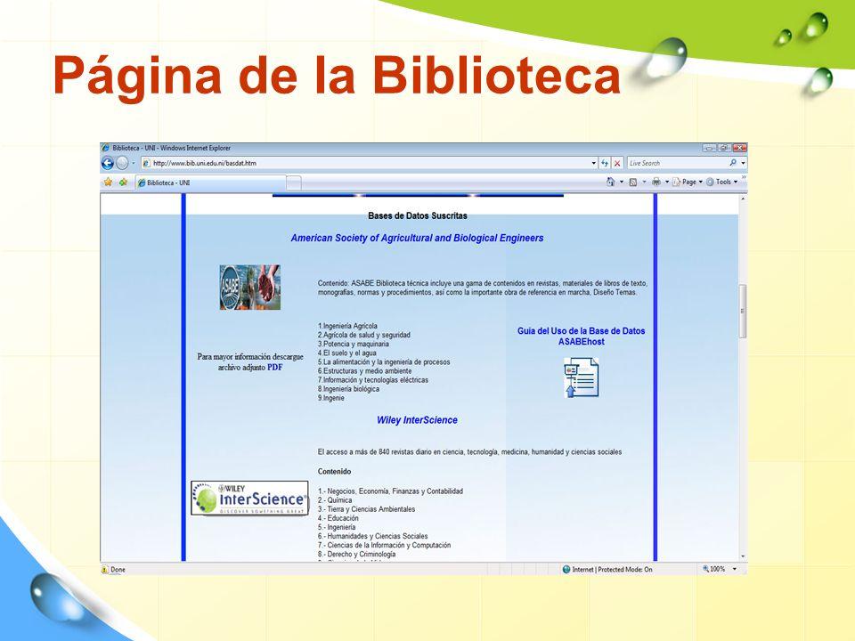 Página de la Biblioteca
