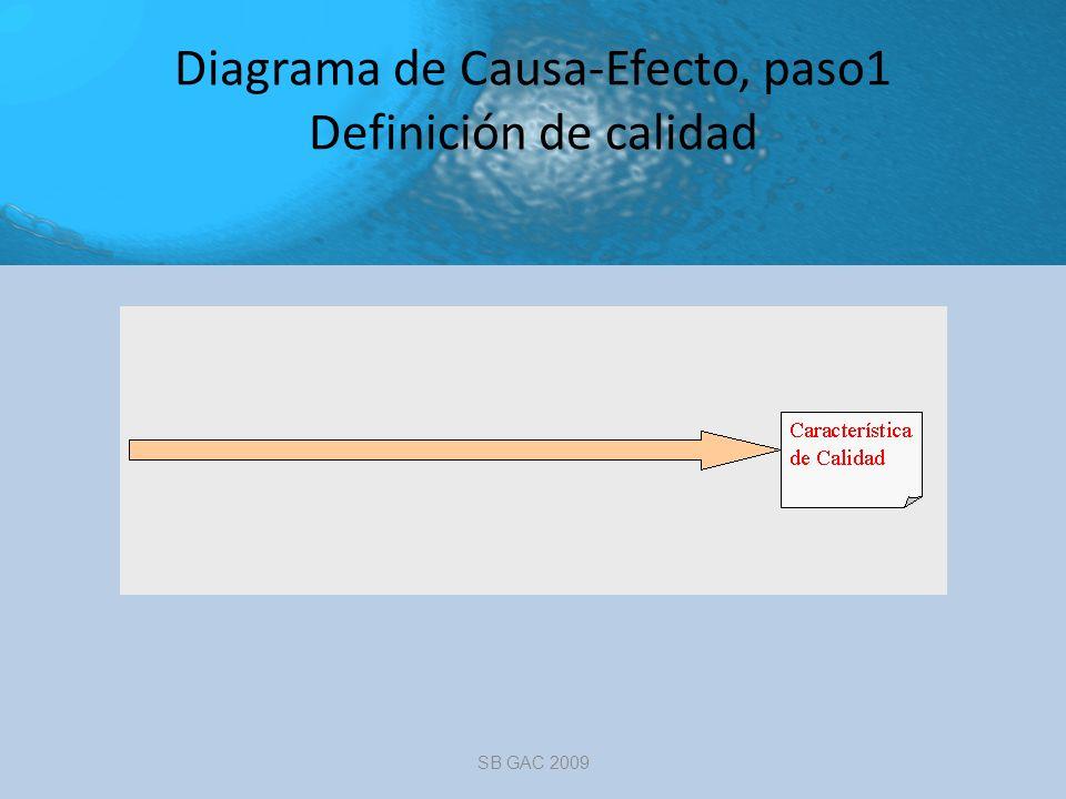 Diagrama de Causa-Efecto, paso1 Definición de calidad