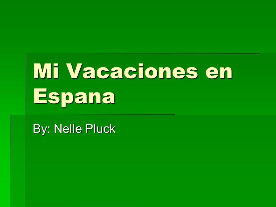 Mi Vacaciones en Espana