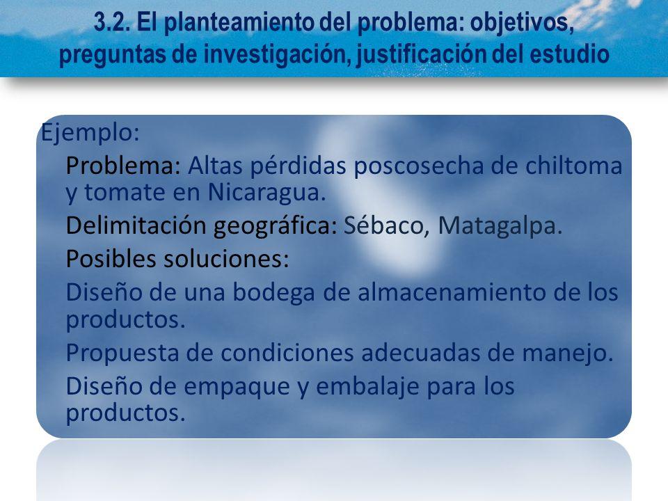 Problema: Altas pérdidas poscosecha de chiltoma y tomate en Nicaragua.