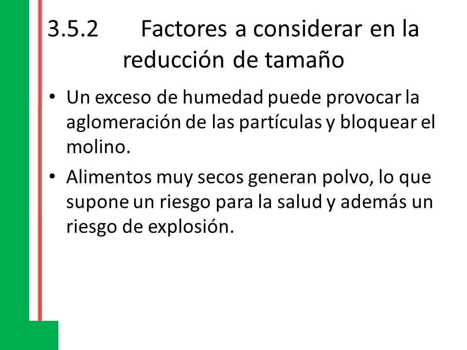 3.5.2 Factores a considerar en la reducción de tamaño