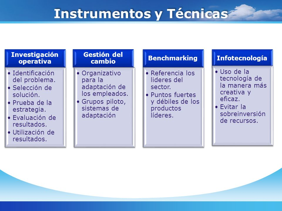 Instrumentos y Técnicas