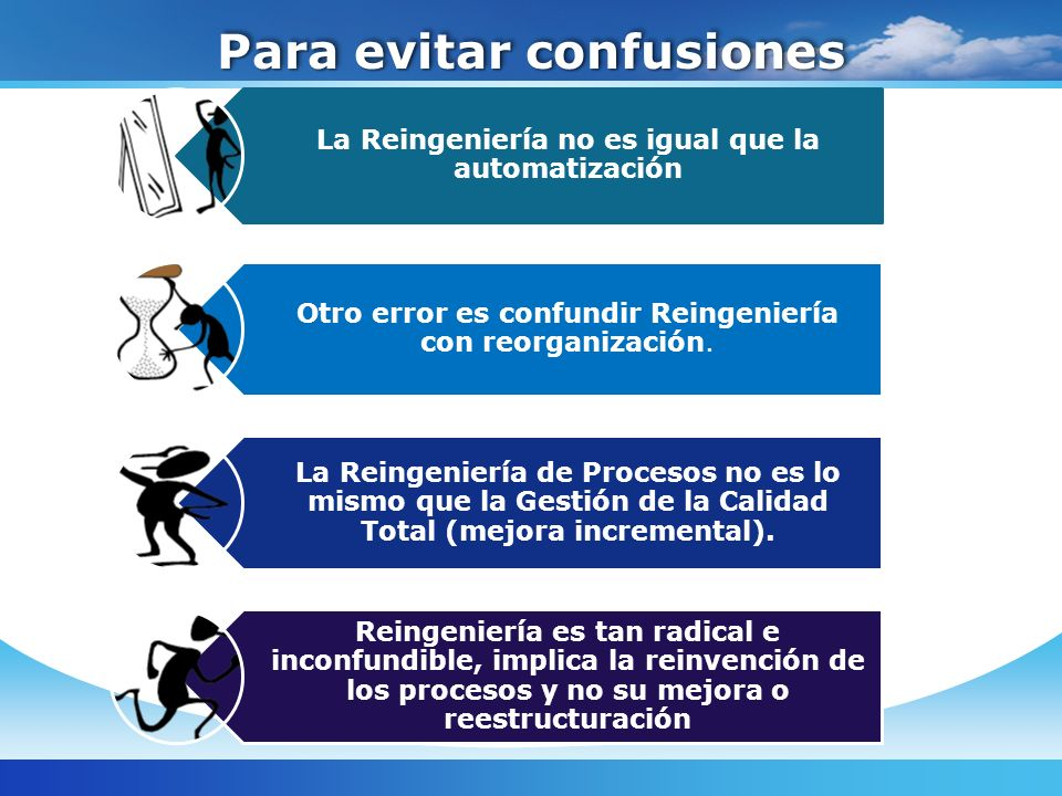 Para evitar confusiones