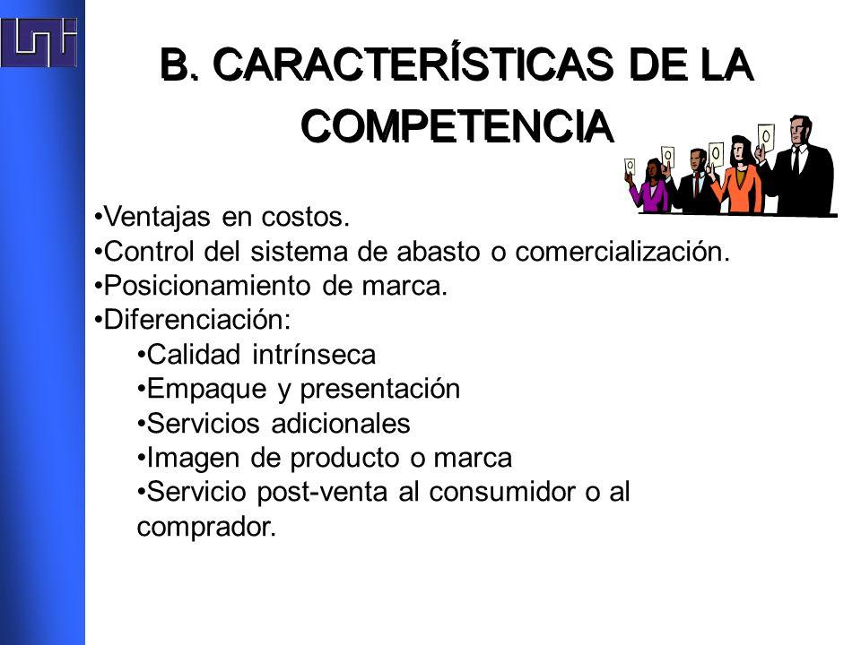 B. CARACTERÍSTICAS DE LA