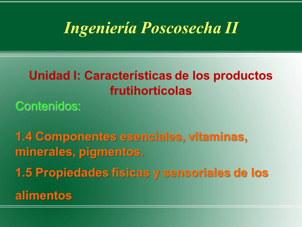 Ingeniería Poscosecha II