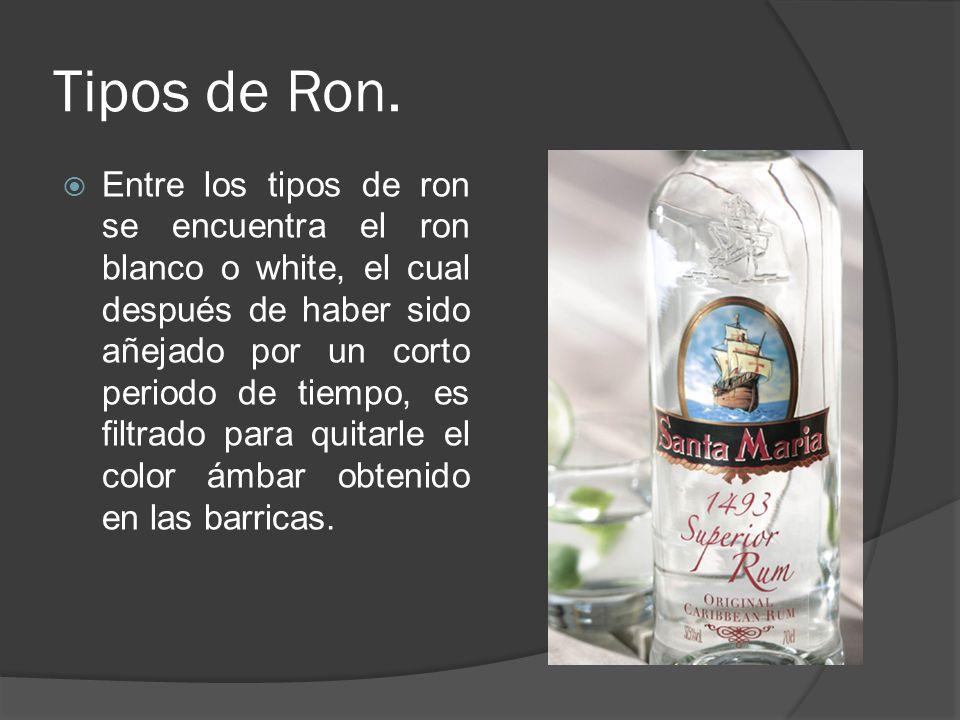 Tipos de Ron.