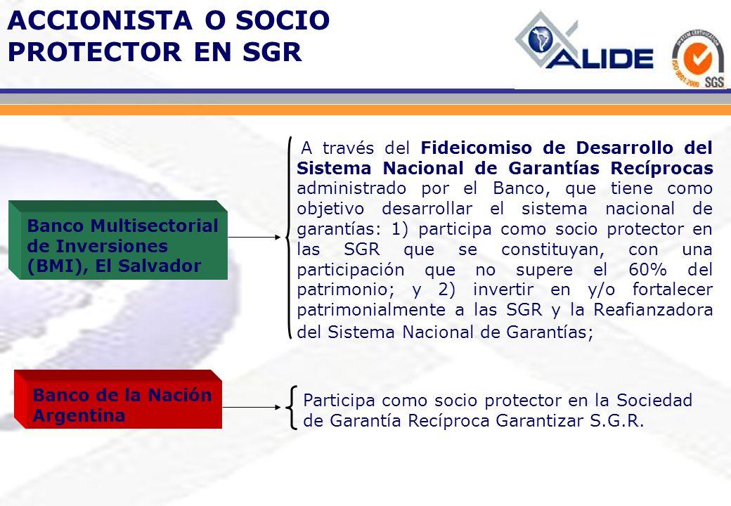 ACCIONISTA O SOCIO PROTECTOR EN SGR