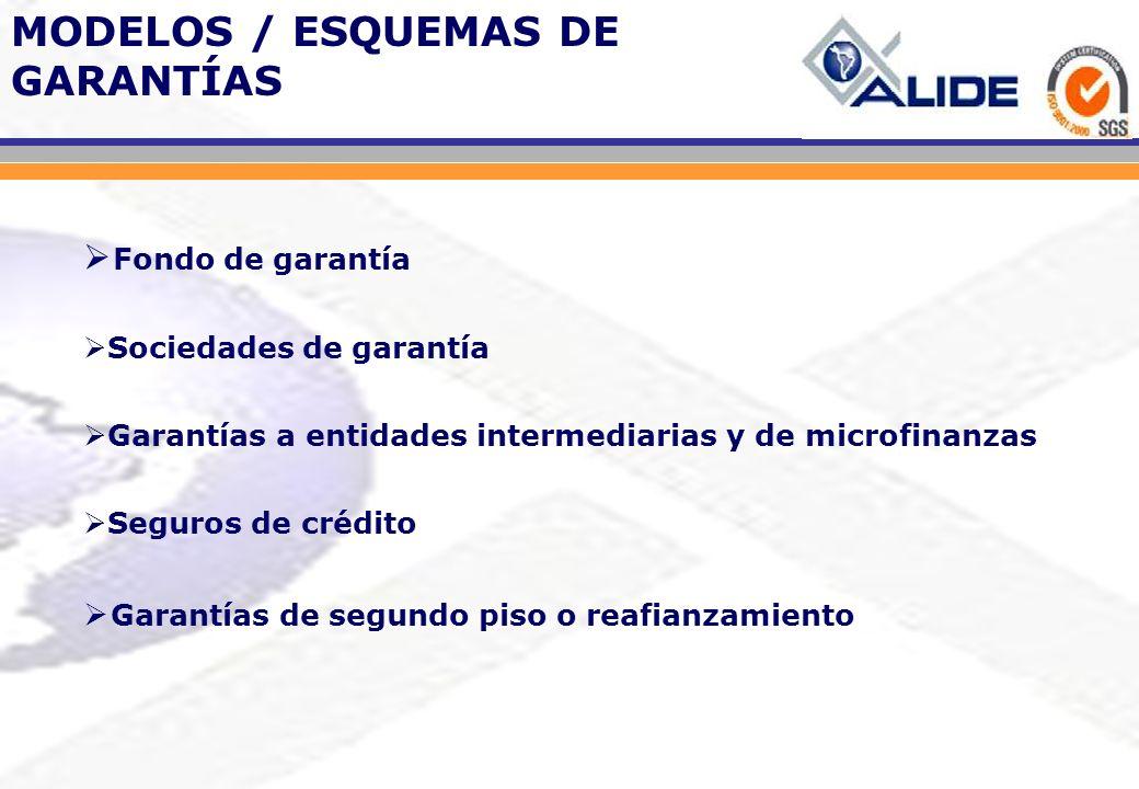 MODELOS / ESQUEMAS DE GARANTÍAS