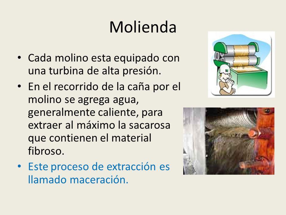 Molienda Cada molino esta equipado con una turbina de alta presión.