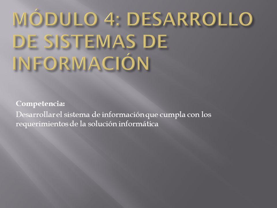 MÓDULO 4: DESARROLLO DE SISTEMAS DE INFORMACIÓN