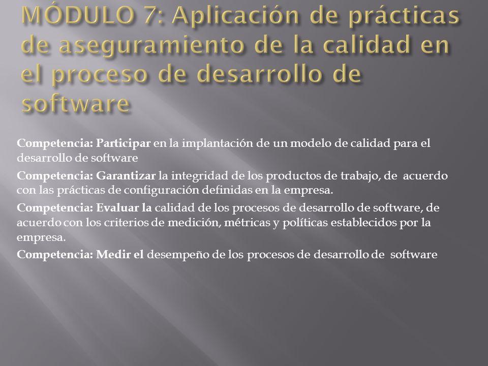 MÓDULO 7: Aplicación de prácticas de aseguramiento de la calidad en el proceso de desarrollo de software