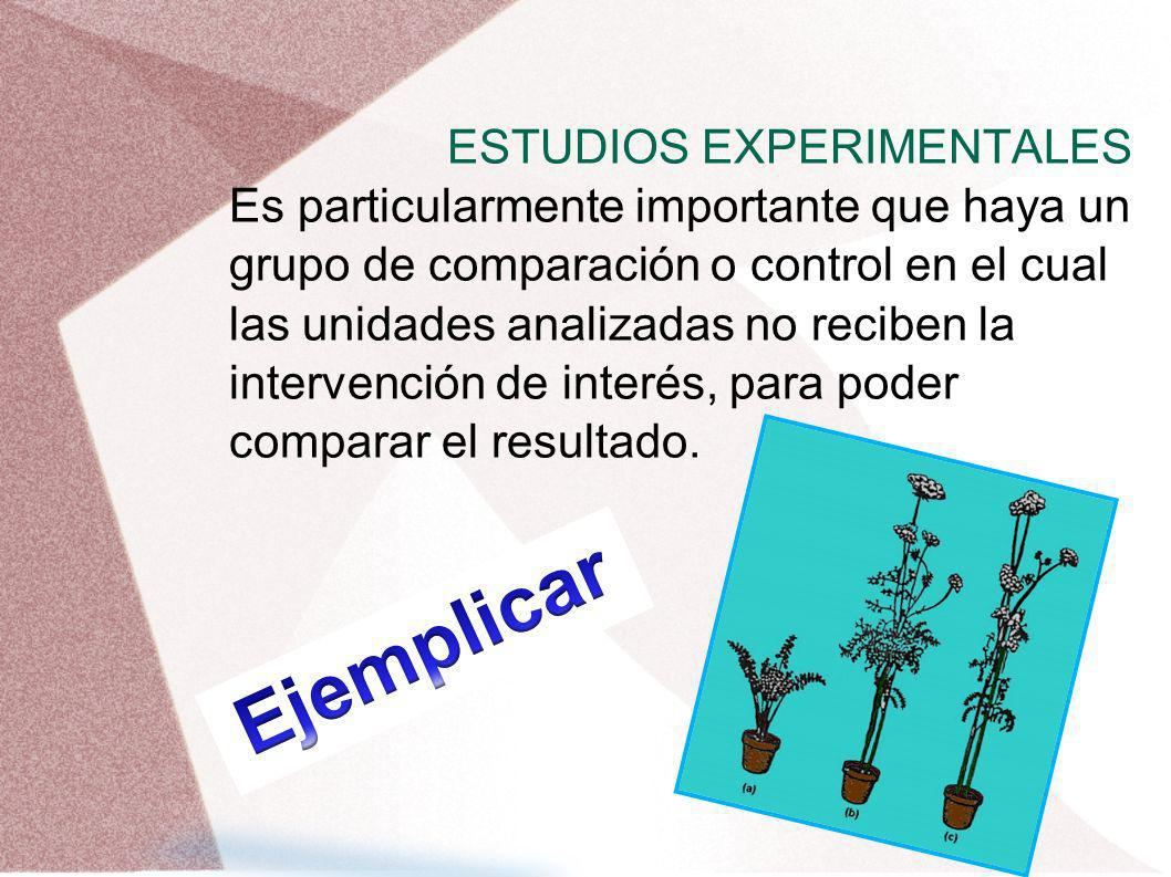 Ejemplicar ESTUDIOS EXPERIMENTALES