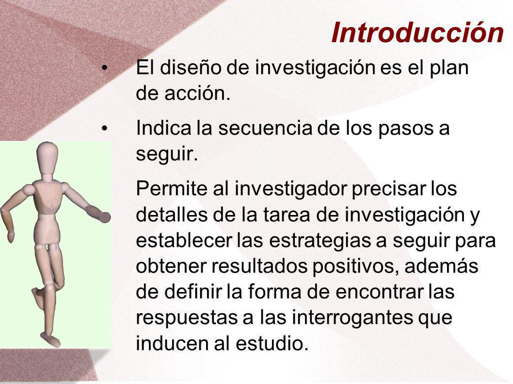 Introducción El diseño de investigación es el plan de acción.
