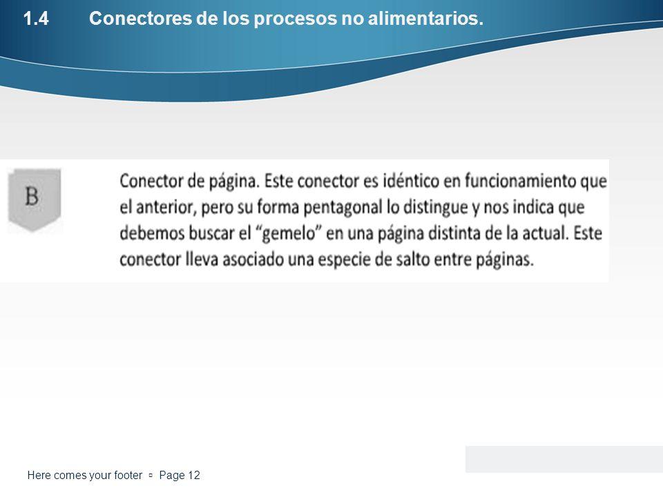 1.4 Conectores de los procesos no alimentarios.