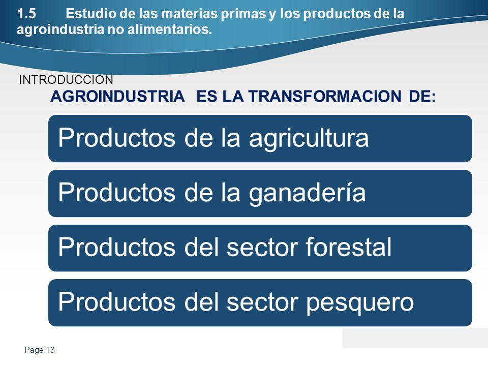 AGROINDUSTRIA ES LA TRANSFORMACION DE: