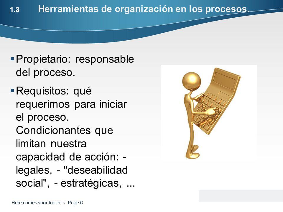 1.3 Herramientas de organización en los procesos.