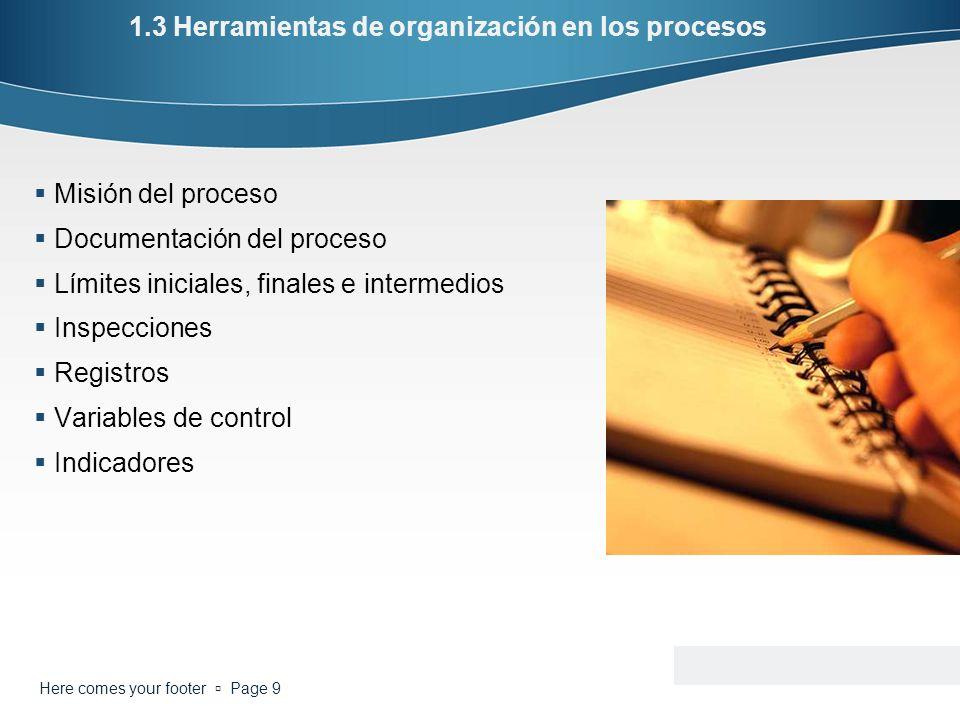 1.3 Herramientas de organización en los procesos