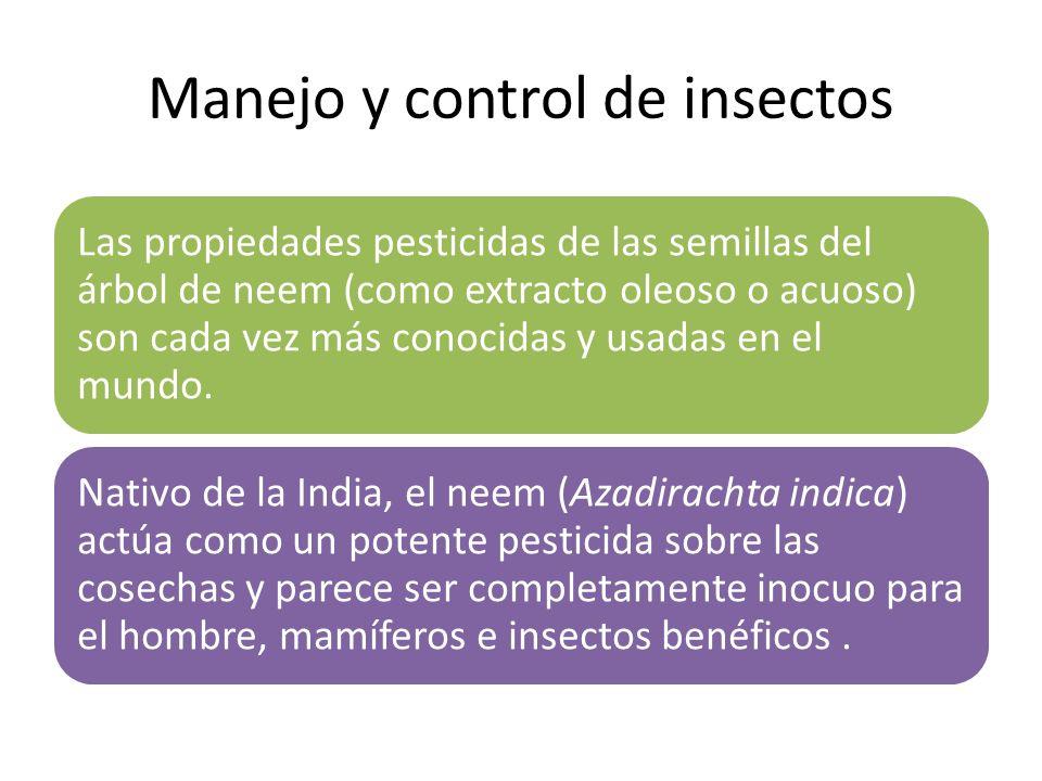 Manejo y control de insectos