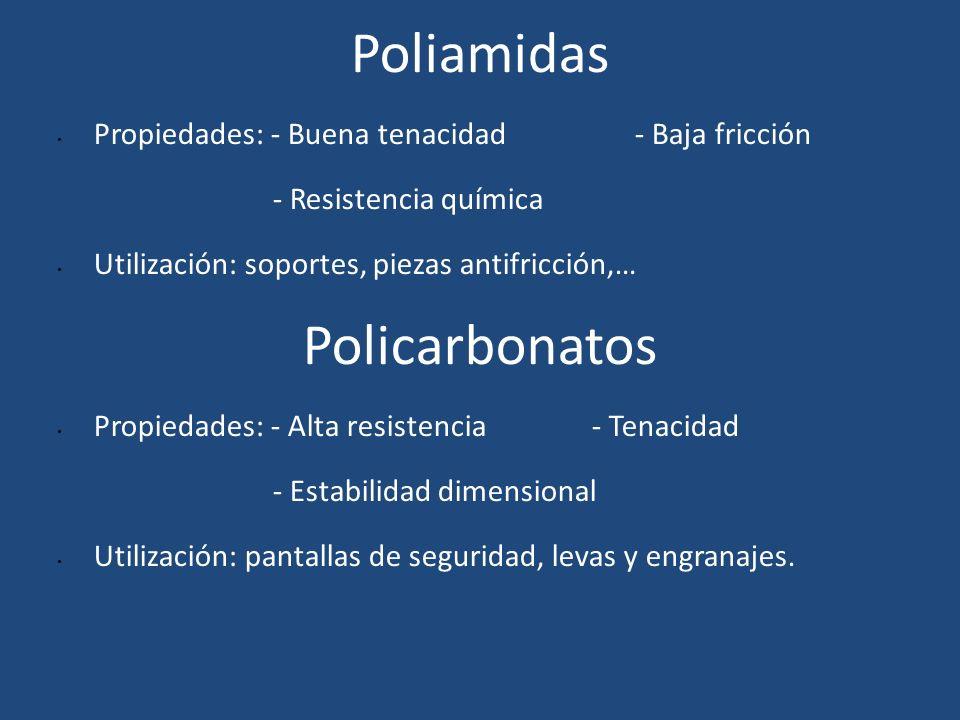 Poliamidas Policarbonatos