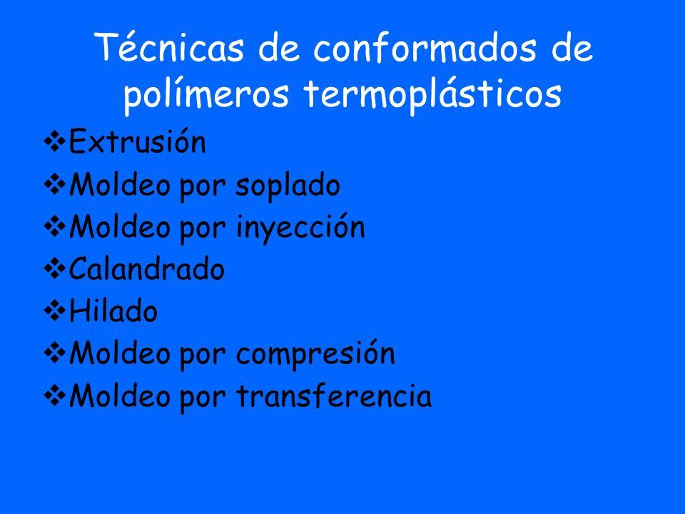 Técnicas de conformados de polímeros termoplásticos