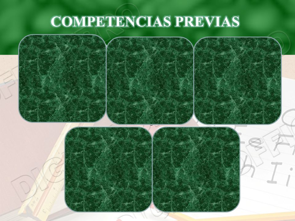 COMPETENCIAS PREVIAS Manejar operaciones algebraicas.
