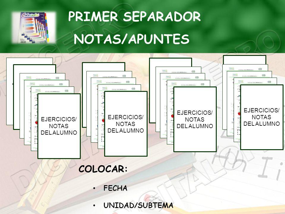 PRIMER SEPARADOR NOTAS/APUNTES