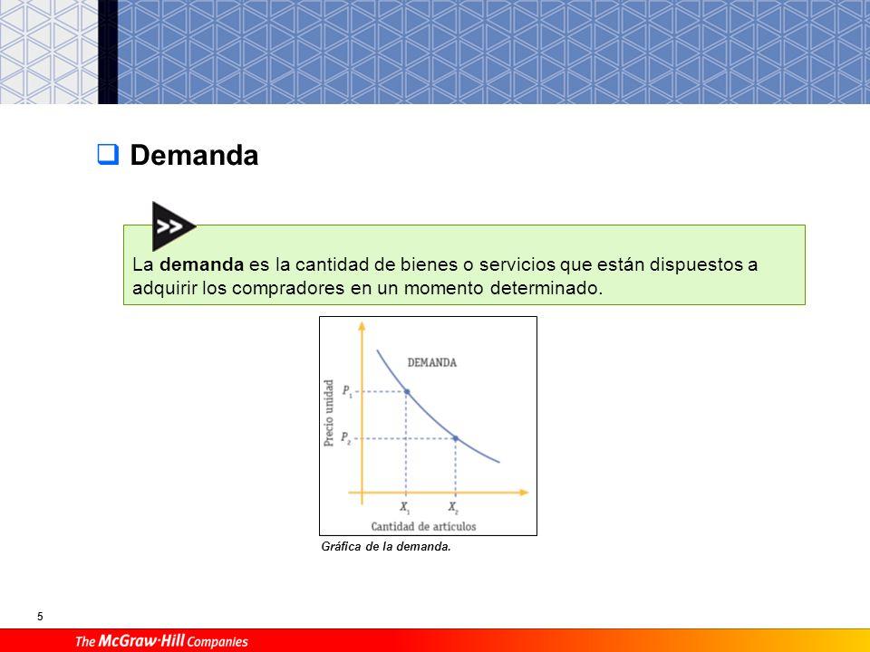 DemandaLa demanda es la cantidad de bienes o servicios que están dispuestos a adquirir los compradores en un momento determinado.
