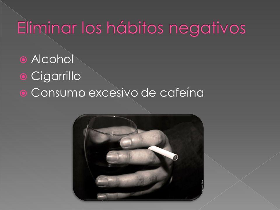 Eliminar los hábitos negativos