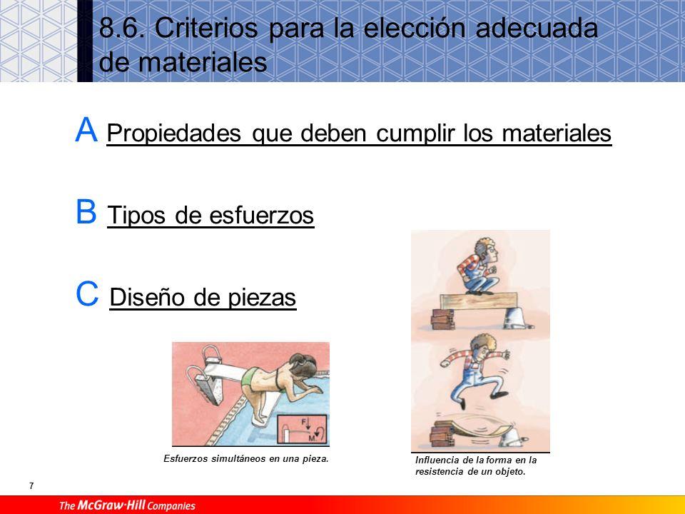 8.6. Criterios para la elección adecuada de materiales